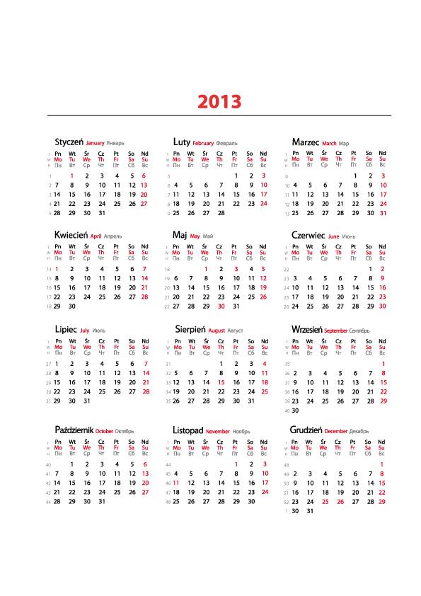 Kalendarze 2013   Makiety