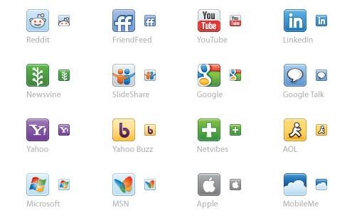 Ikony portali społecznościowych w formacie EPS