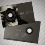 Kreatywne wizytówki fotografów - przykłady