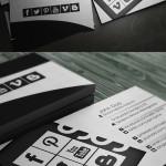 52 Czarno-białe projekty wizytówek - inspiracje