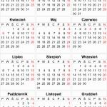 Kalendarium 2015 w formatach EPS, PDF, CDR do pobrania