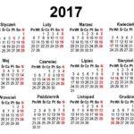 Kalendarium 2017 w formatach EPS, PDF, CDR do pobrania